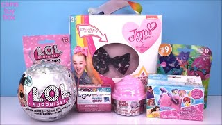 LOL Bling NUM NOMS Surprise Blind Bags Trolls Series 9 Light Ups JoJo Siwa TOYS Dolls Unboxing