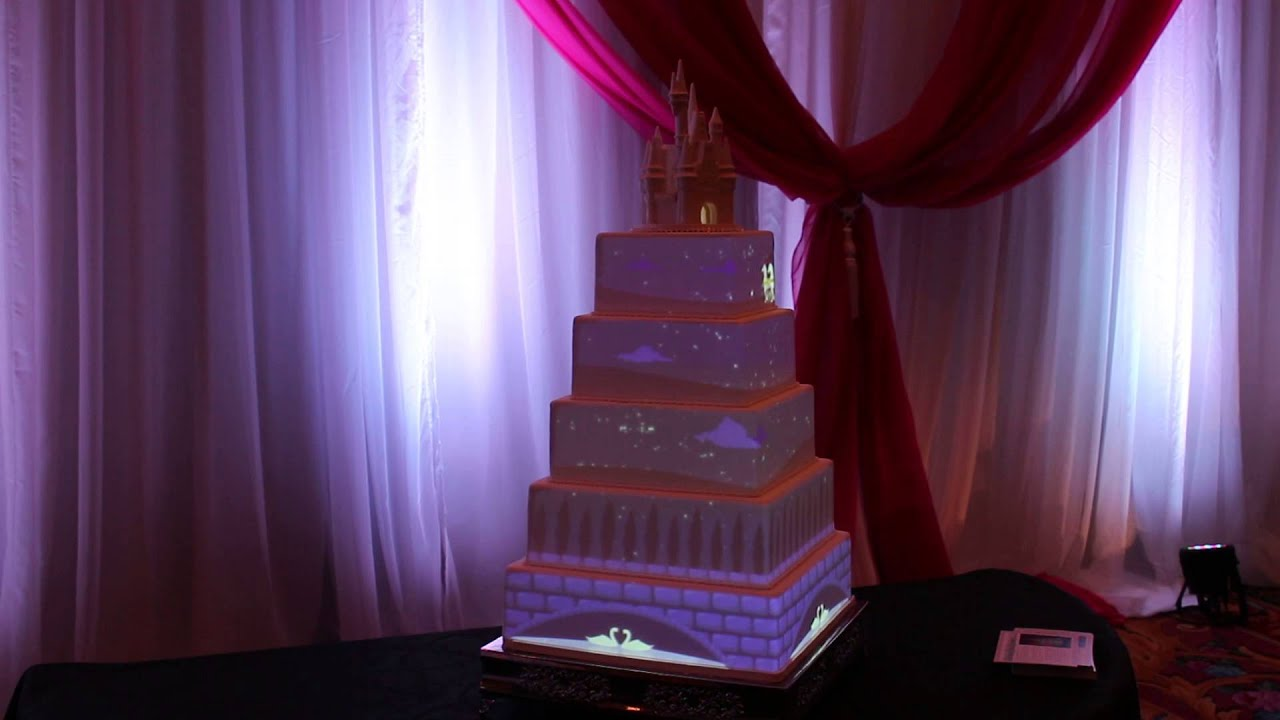 wedding cake projection disney weddings projection mapping cake cycle 23573