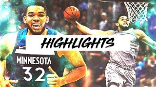 Best Karl-Anthony Towns Highlights 17-18 Season Part 1 | Clip Session