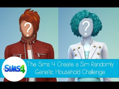 The Sims 4 Create a Sim - Randomly Genetic Household Challenge - Vampire & Alien Half Breed Family