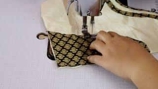Silk Saree Blouse Design Cutting and Stitching || DIY