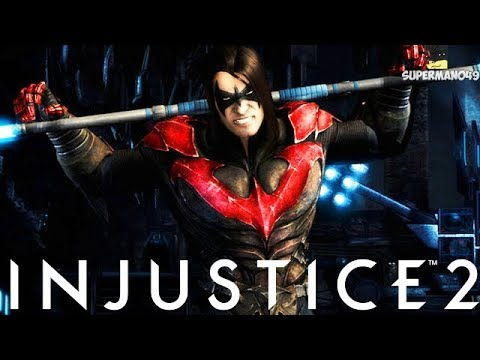 """The Worst Damian Nightwing Burn EVER! - Injustice 2 """"Nightwing"""" Gameplay (Staff Of Grayson)"""