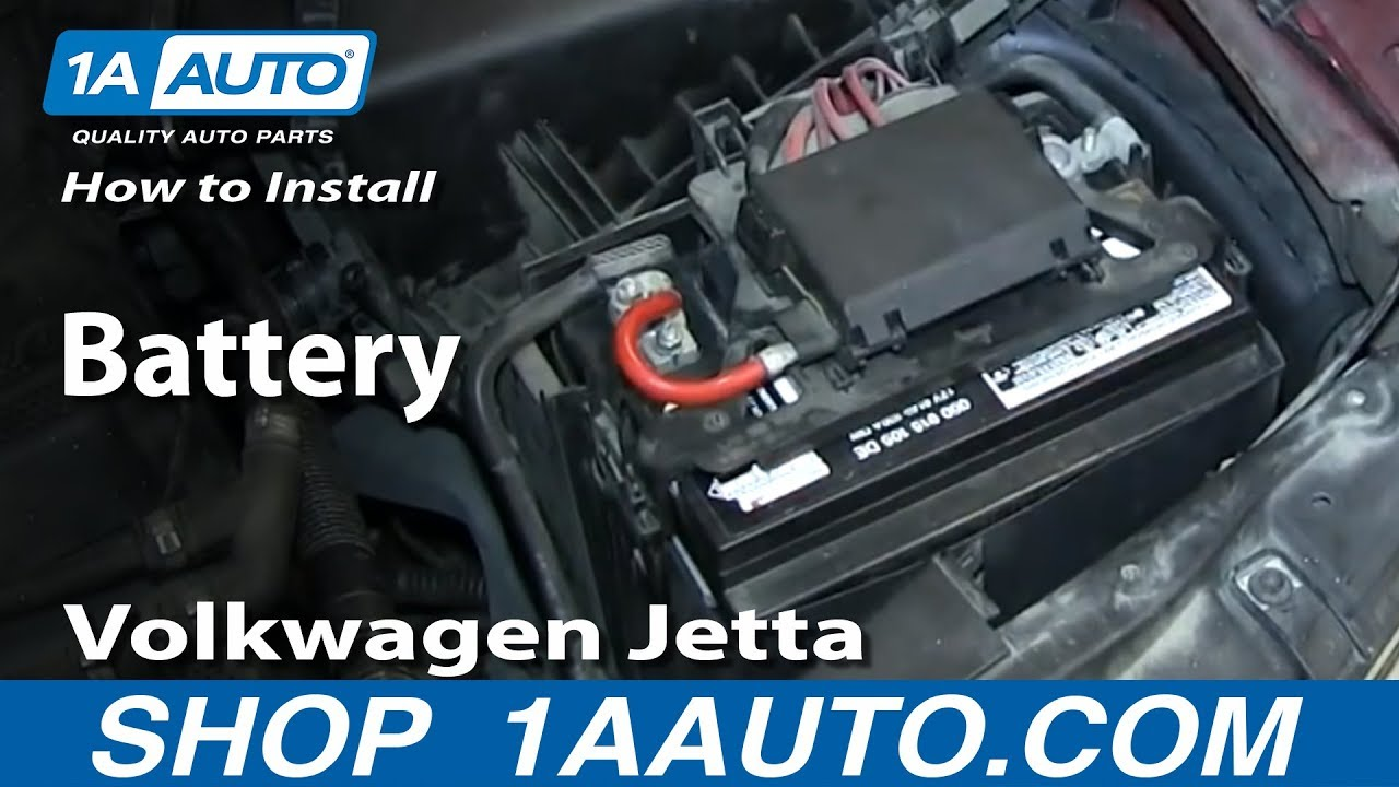 how to replace battery 00 05 volkswagen jetta or golf [ 1280 x 720 Pixel ]