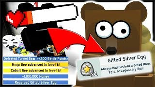 *HOW TO* DEFEAT TUNNEL BEAR & GIFTED EGG REWARD!! | Roblox Bee Swarm Simulator