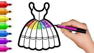 How to Draw 8 Rainbow Dress - Fun Glitter Coloring Book for Kids screenshot 2