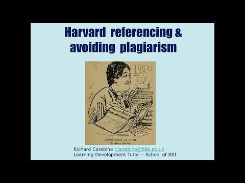 Study Skills Workshop 04 - Harvard referencing, avoiding plagiarism
