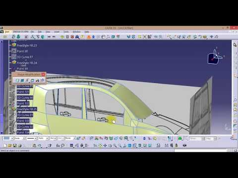 CATIA online training | how to design a car body for beginners | car design tutorial