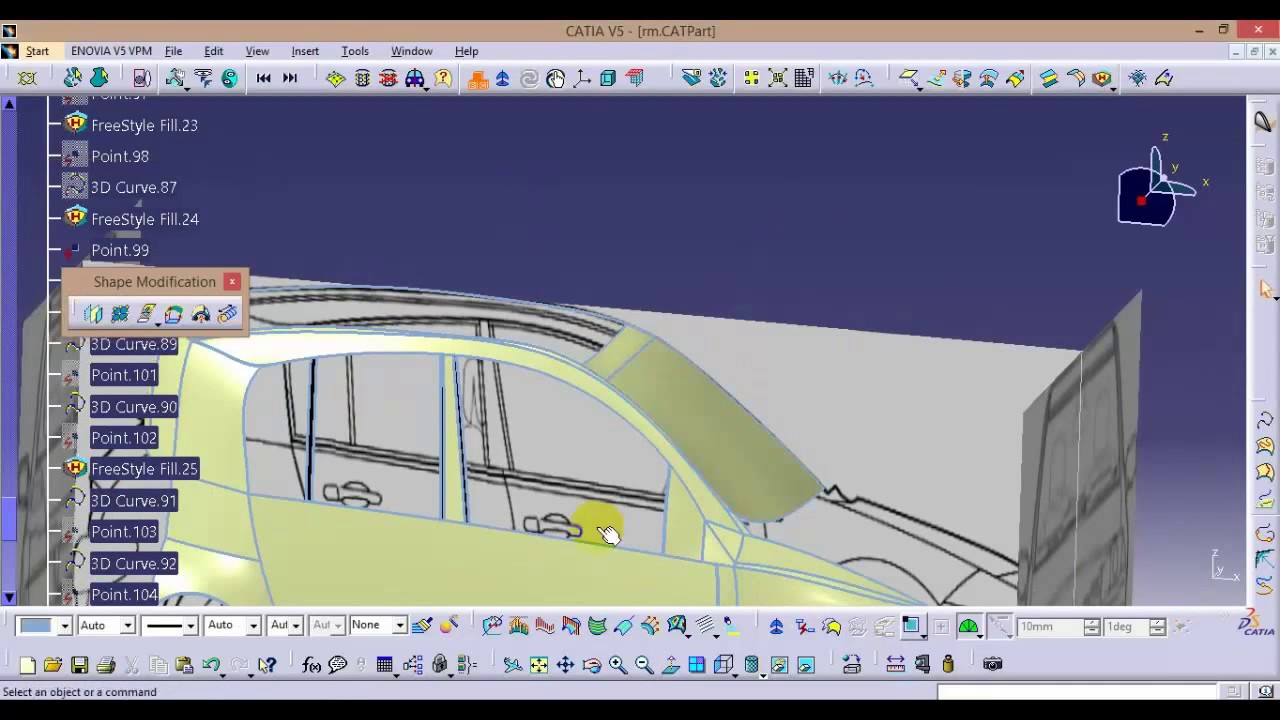 Catia online training how to design a car body for beginners car catia online training how to design a car body for beginners car design tutorial malvernweather Images