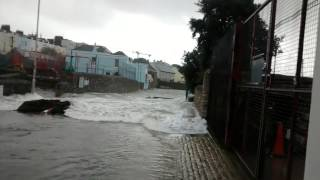 Tidal surge, Stonehouse in Plymouth UK, 05/02/2014