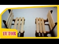 How to create a miniature chair with ice-cream sticks - Inicaraku