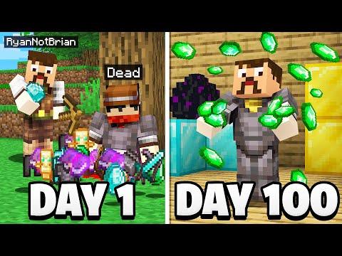 I Spent 100 Days as a Minecraft Bandit…