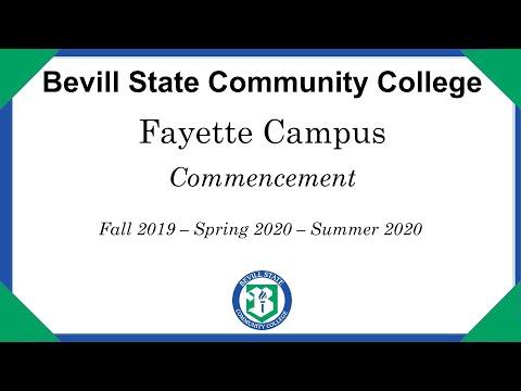 Bevill State Community College Virtual Graduation - Fayette Campus