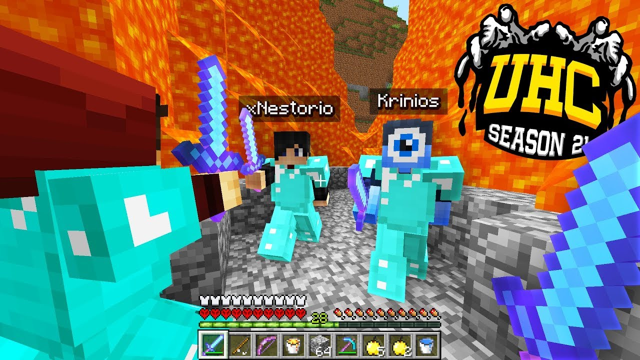 This was the most INTENSE battle ever    (Minecraft Cube UHC Season 21  Episode 7)