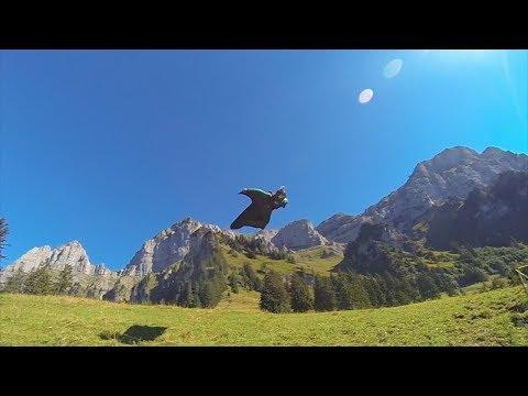 Sebastian Alvarez Wingsuit proximity flying. The Crack. Sputnik Exit.