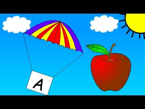 Learn your Alphabet from A-Z with Parachutes - Children's Video ...