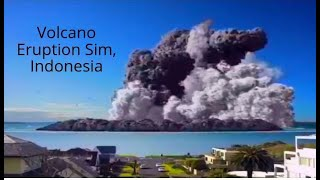 Volcano Eruption in Indonesia Jun 9,2019- Computer Simulation