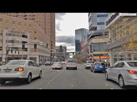 Driving Downtown - Beautiful Bellevue 4K - Washington USA