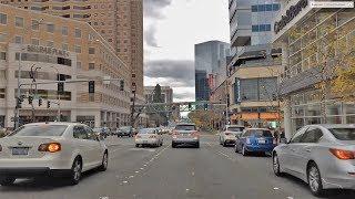 Driving Downtown - Beautiful Bellevue 4K - Washington USA