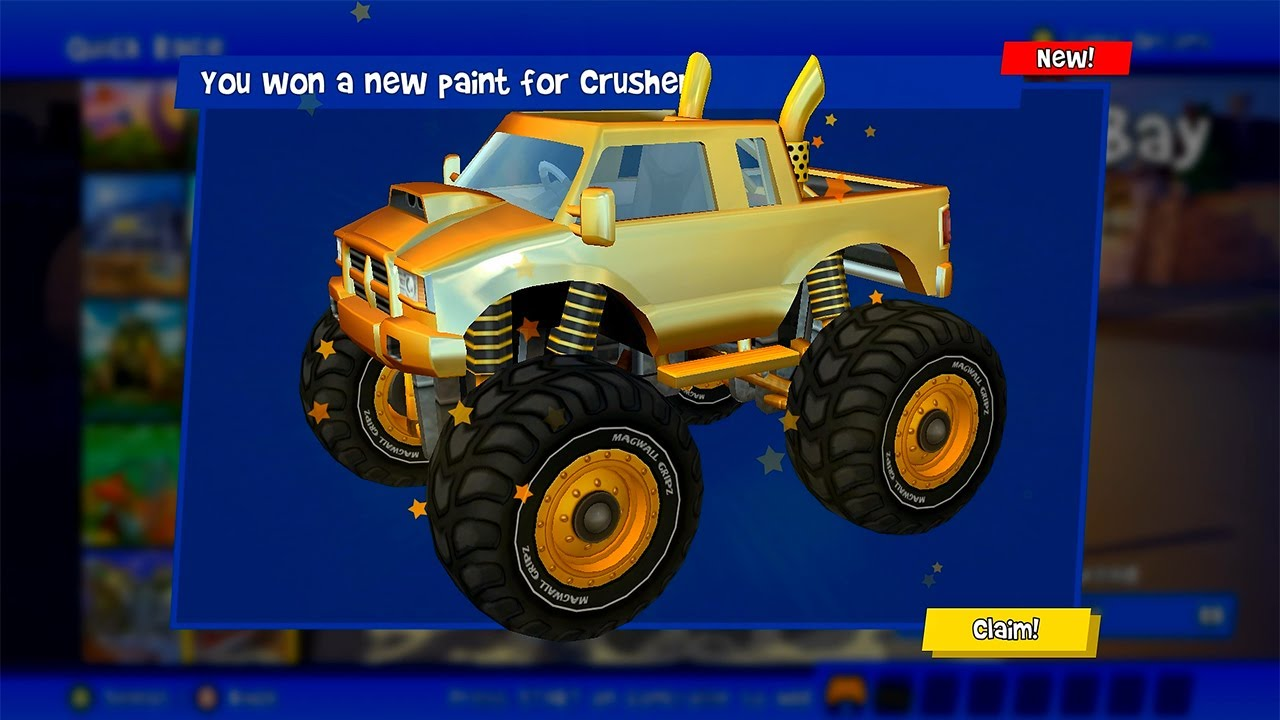 Beach Buggy Racing 2 PC | New Gold Paint For Crusher  | Postcard Cup Championship 1000HP