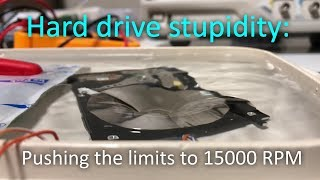 Hard drive stupidity: 15000 RPM + under water! (Arduino)