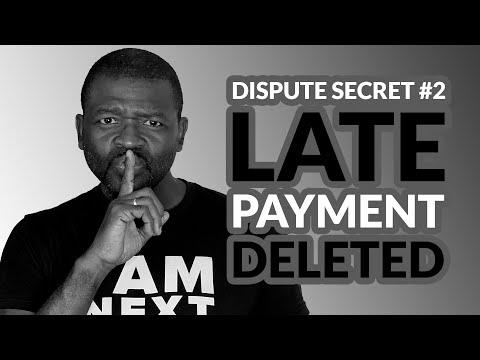 Dispute Credit Report Secrets#2 Late Payments(2019)