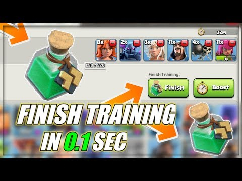 COMPLETE YOUR TROOP TRAINING IN JUST *0.1 SECOND* L NEW POTION LEAK L INSTA FINISH POTION