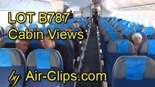 LOT Polish Airlines Boeing 787 Dreamliner Cabins in Flight by [AirClips]