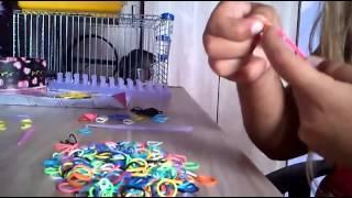 prosty sposób na bransoletkę z gumek