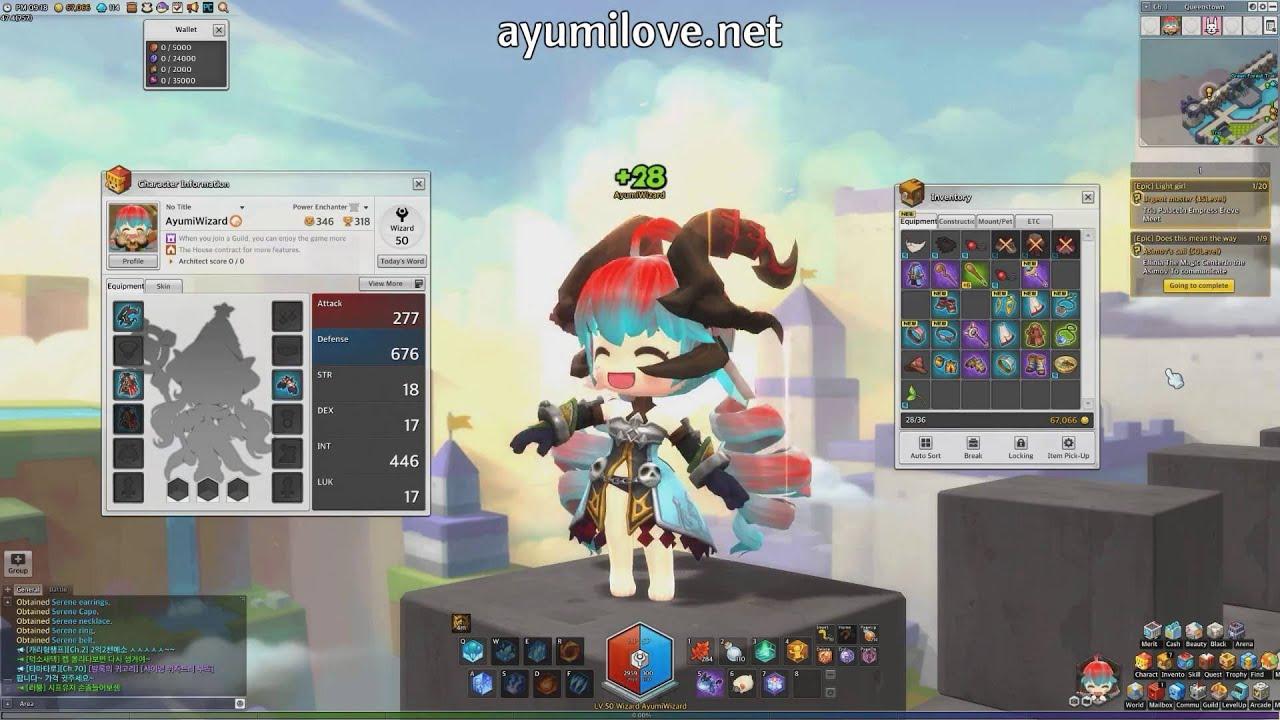 Ayumilove MapleStory2 Wizard Level 50 Equip Store