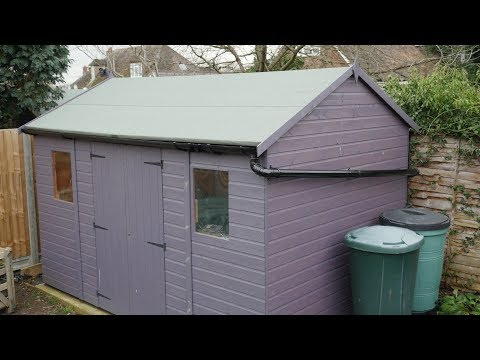 How to fit shed guttering and connect to water butts