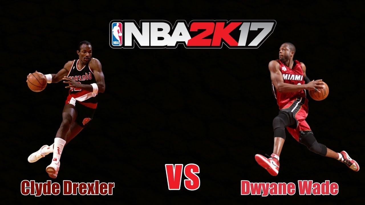 1 vs 1 Shooting Guard Clyde Drexler vs Dwyane Wade