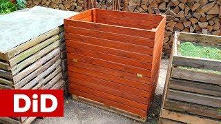 735. Jak wykonać drewniane kompostowniki w ogrodzie?