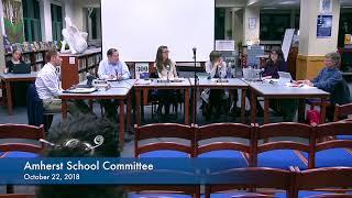 Amherst School Committee 10-22-18