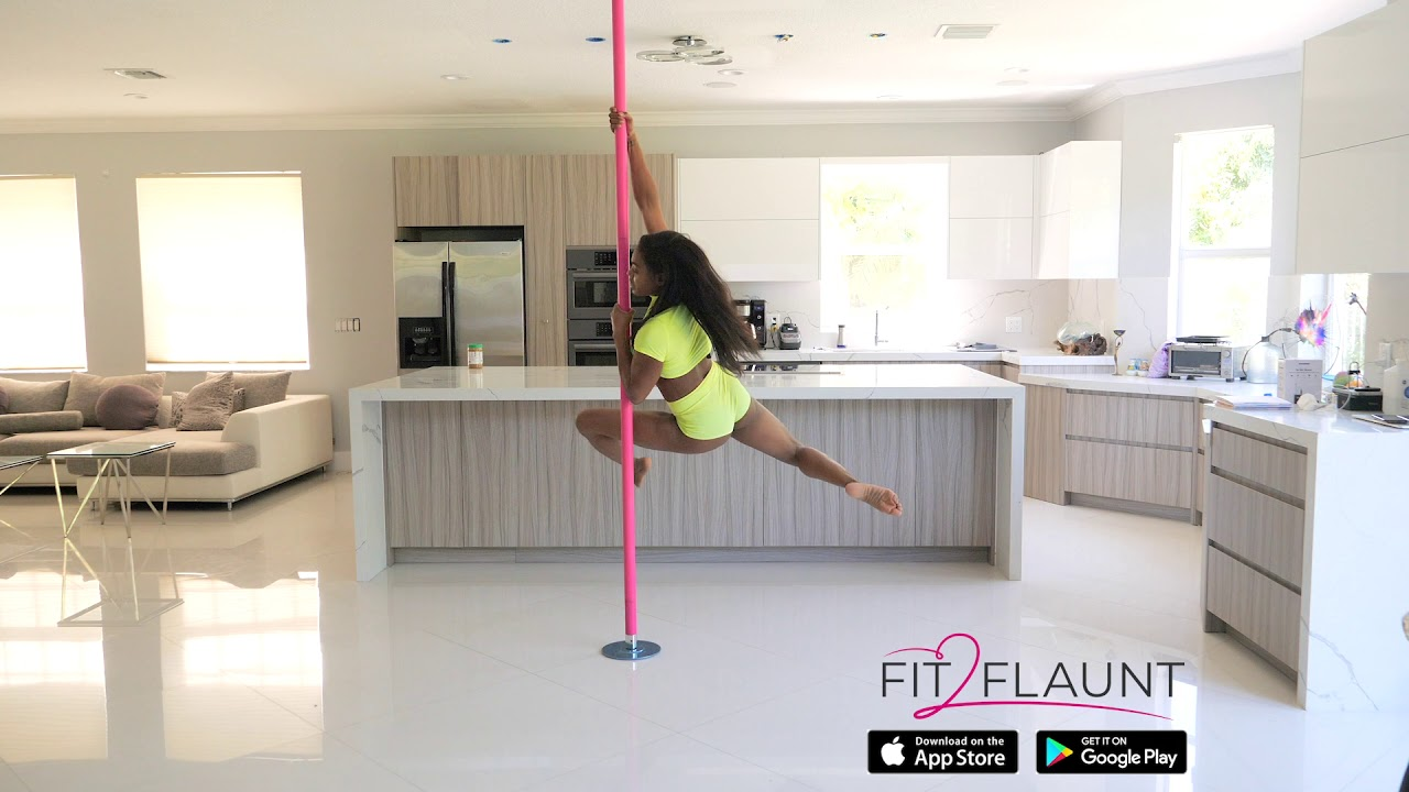 Beginner spin pole routine - How to Pole Dance - YouTube