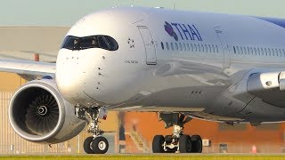 5 EXTREMELY CLOSE UP Airbus A350 Takeoffs | Melbourne Airport Plane Spotting