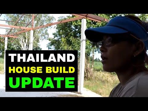 THAILAND HOUSE BUILD UPDATE Rural life Thailand Homestead THAI VLOG THAI VLOGG วิดีโอตลก