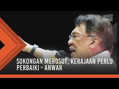 Sokongan merosot, kerajaan perlu perbaiki - Anwar