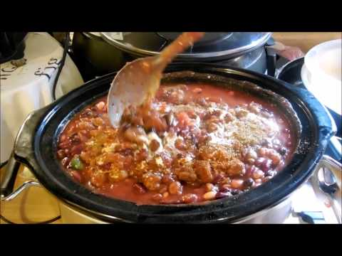 Beef And Sausage Slow Cooker Chili
