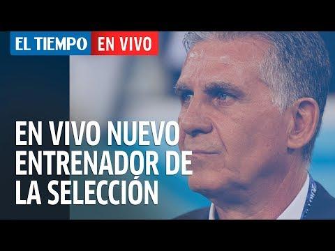 Cubrimiento  de la presentación de Carlos Queiroz como DT de Colombia