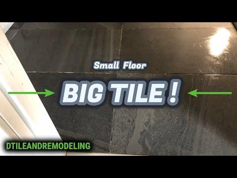 Small Bathroom Floor BIG TILE Princeton NJ