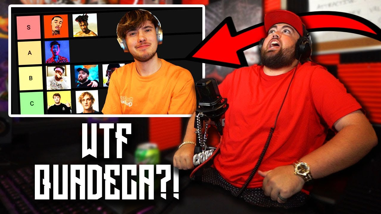 CRYPT REACTS to Quadeca YouTube Rapper Tier List (KSI, Ricegum, FlightReacts, Dax)