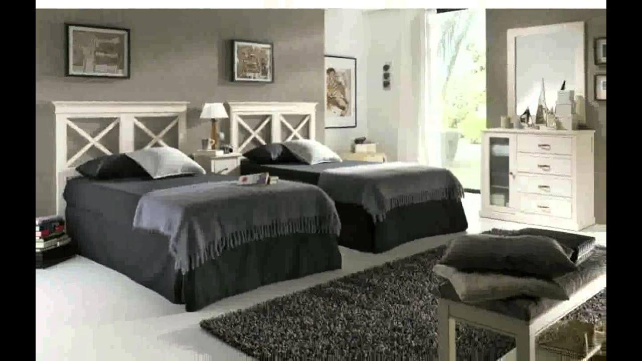 Decoracion De Dormitorios Con Dos Camas  YouTube