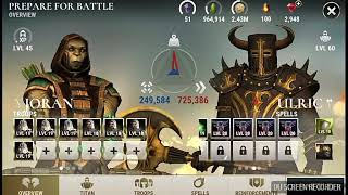 Dawn of Titans    Unmaxed Joran Vs maxed buffed lvl 60 ulric