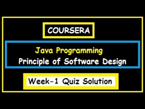 Coursera Java Programming Principle Of Software Design Earthquakes Week 1 Quiz Solutions Youtube