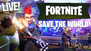 LOOKING FOR FREE VBUCKS!! Fortnite Save The World LIVE