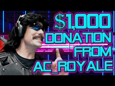 Dr Disrespect $1,000 Donation from AC_Royale | H1Z1 KOTK