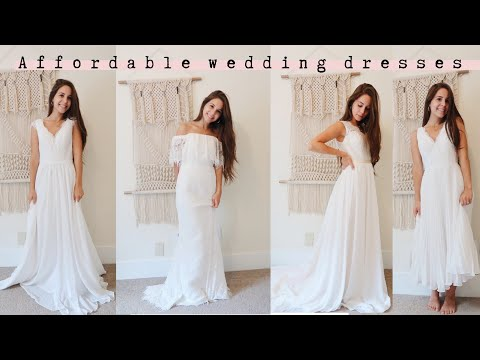 CHEAP WEDDING DRESSES | jj's house review and try-on. http://bit.ly/2ODXIYj