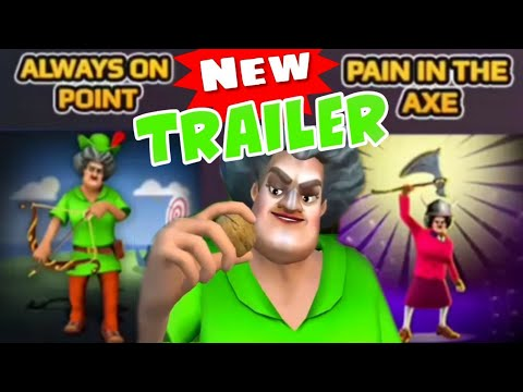 SCARY TEACHER 3D - Always on Point + Pain in the Axe [Trailer] Super Sportsmania [Android - ios]