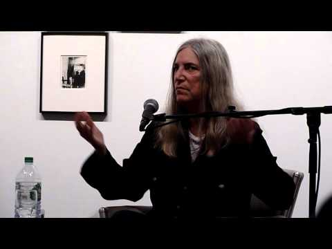 Patti Smith --ABOUT HER NEW CELLPHONE -- Robert Miller Gallery - NYC --March 5, 2016