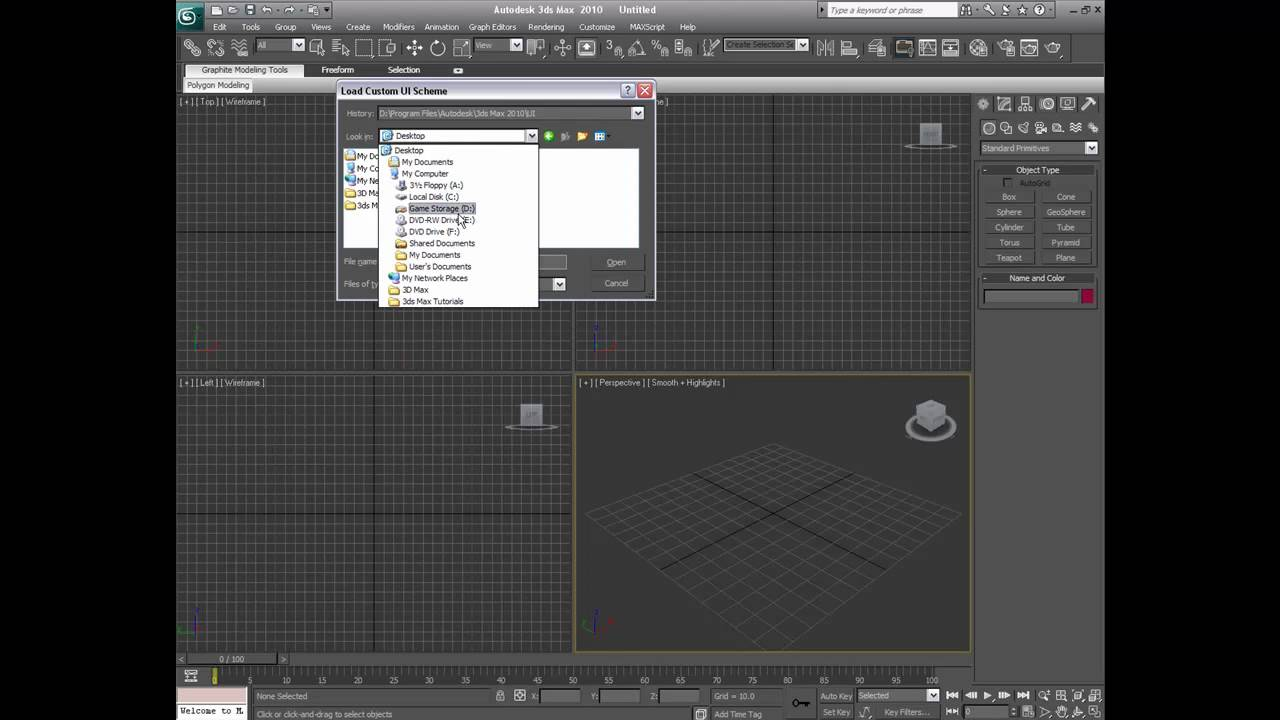 Background image 3ds max viewport - 3ds Max Userface Color